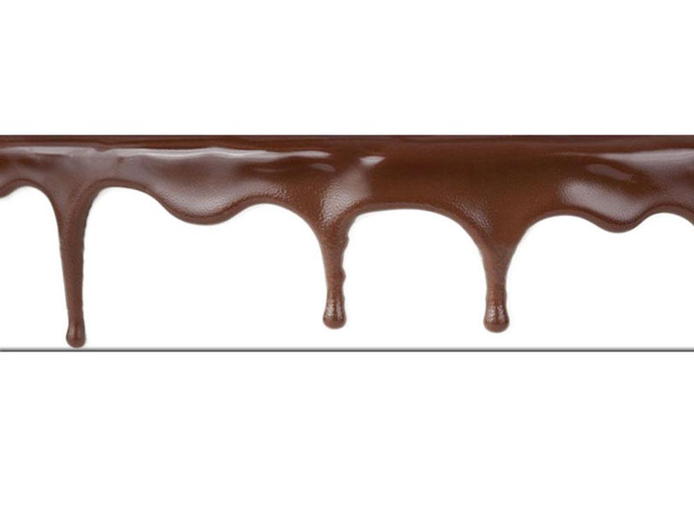Бордюрная лента для кондитерских изделий 40mkm Шоколад 510m1