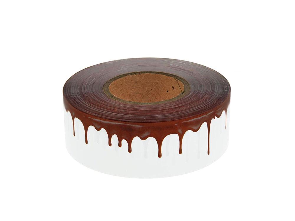 Бордюрная лента для кондитерских изделий 40mkm Шоколад 510m_катушка
