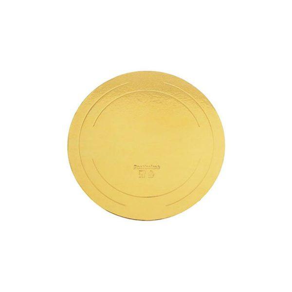 Подложка для тортов круглая d240 h2.5 мм золото усиленная