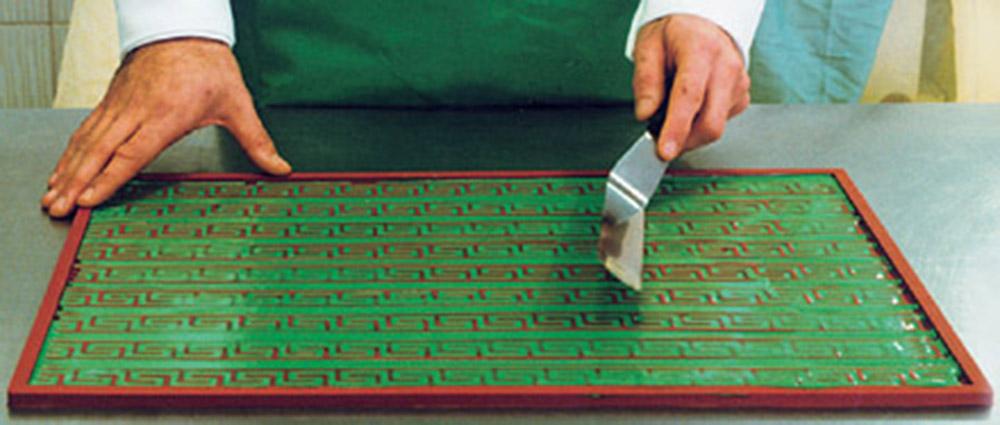 Использование бордюрного коврика для декора 1