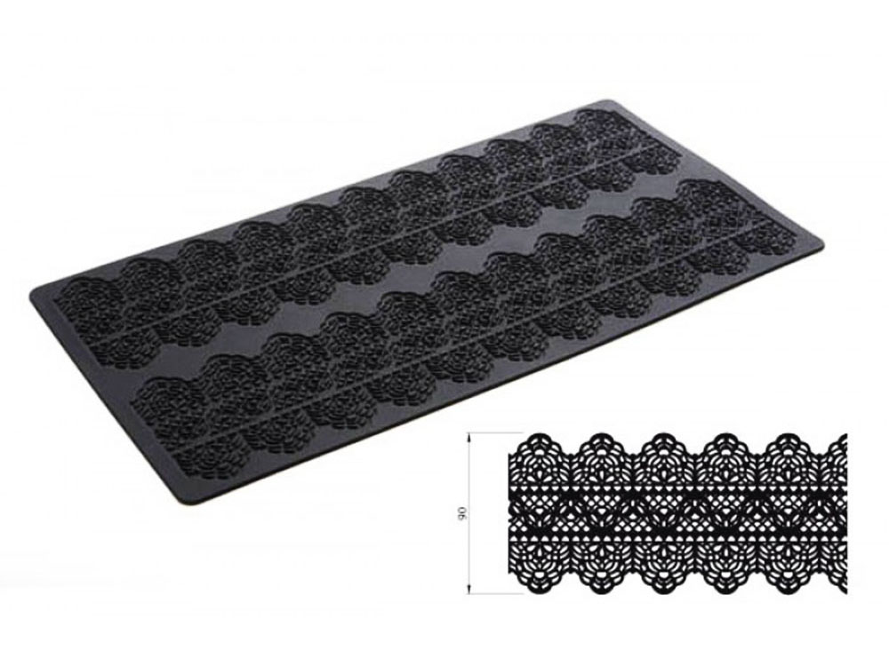 Коврик силиконовый для кружевного декора (айсинга) 400x200 TRD06