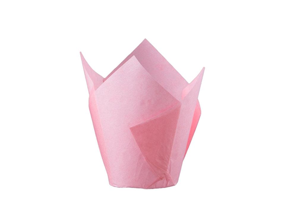 Форма для выпечки тюльпан 150x150 розовый
