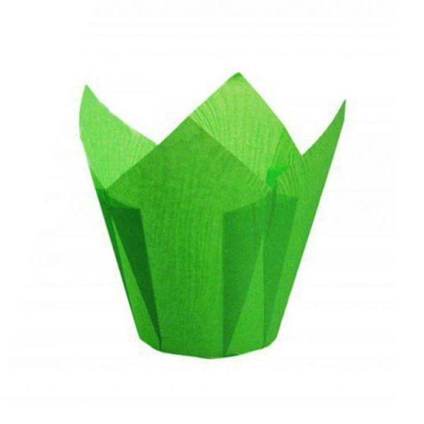 Форма для выпечки тюльпан 150x150 зеленый