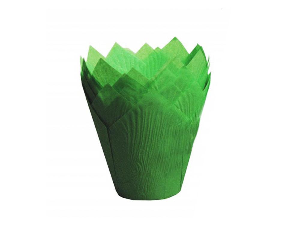 Формы для выпечки тюльпан 150x150 зеленый