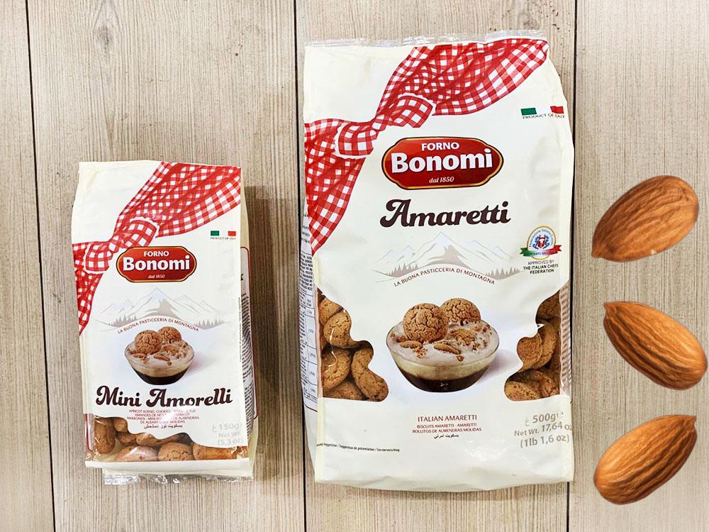 Печенье Amaretti Bonomi 150г и 500г вместе