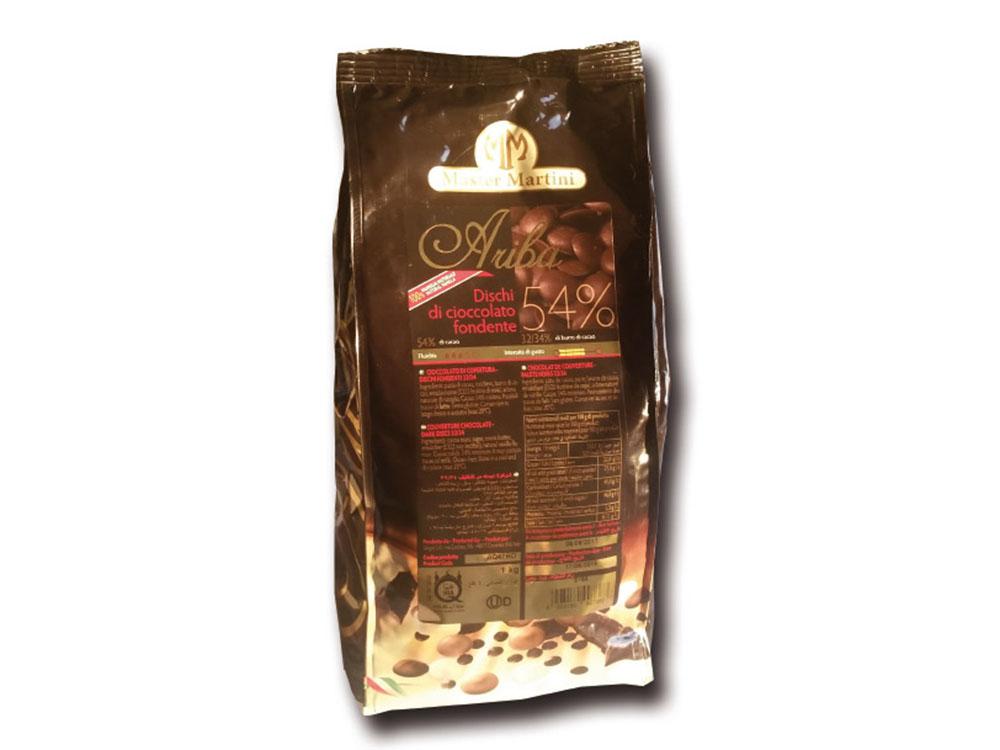 Шоколад натуральный Ariba Fondente Dischi 54 Диски темные 54_упаковка