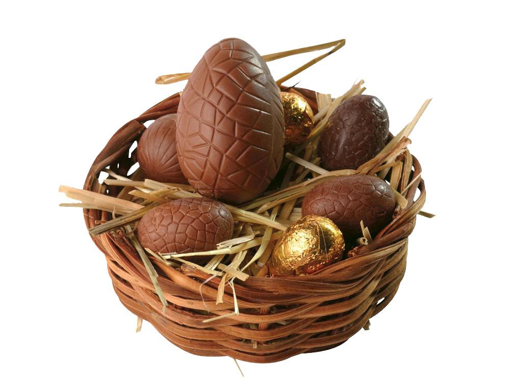 Шоколадные яйца в гнезде