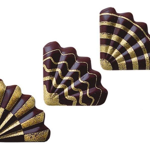 Декоративное украшение для торта из шоколада 34x34 mm 32372 ракушки