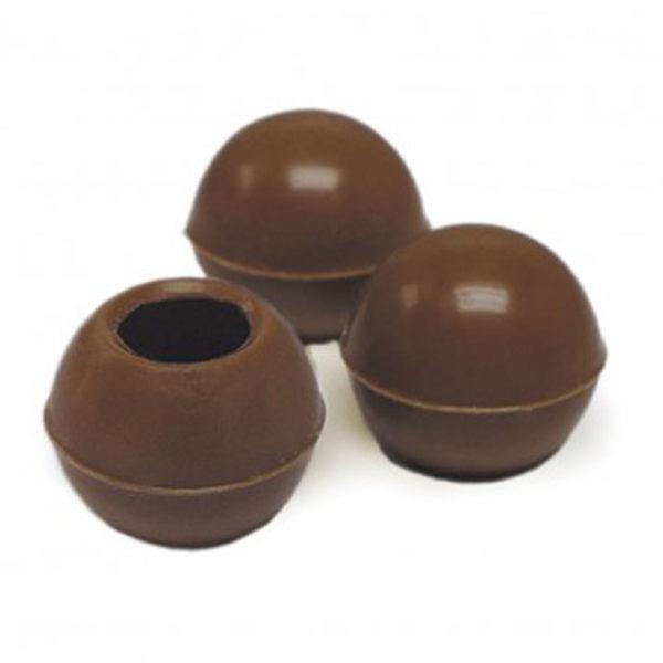 Декоративное украшение из натурального шоколада 77011 Трюфельные капсулы milk