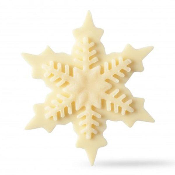 Декоративное украшение из натурального шоколада 77093 Снежинка