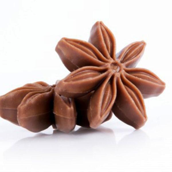 Декоративное украшение из натурального шоколада 77308 Звездочка аниса