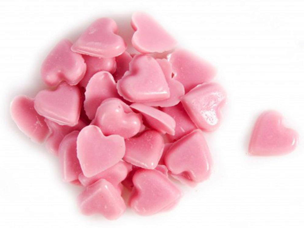 Декоративное украшение из натурального шоколада 78413 розовая посыпка Сердечки