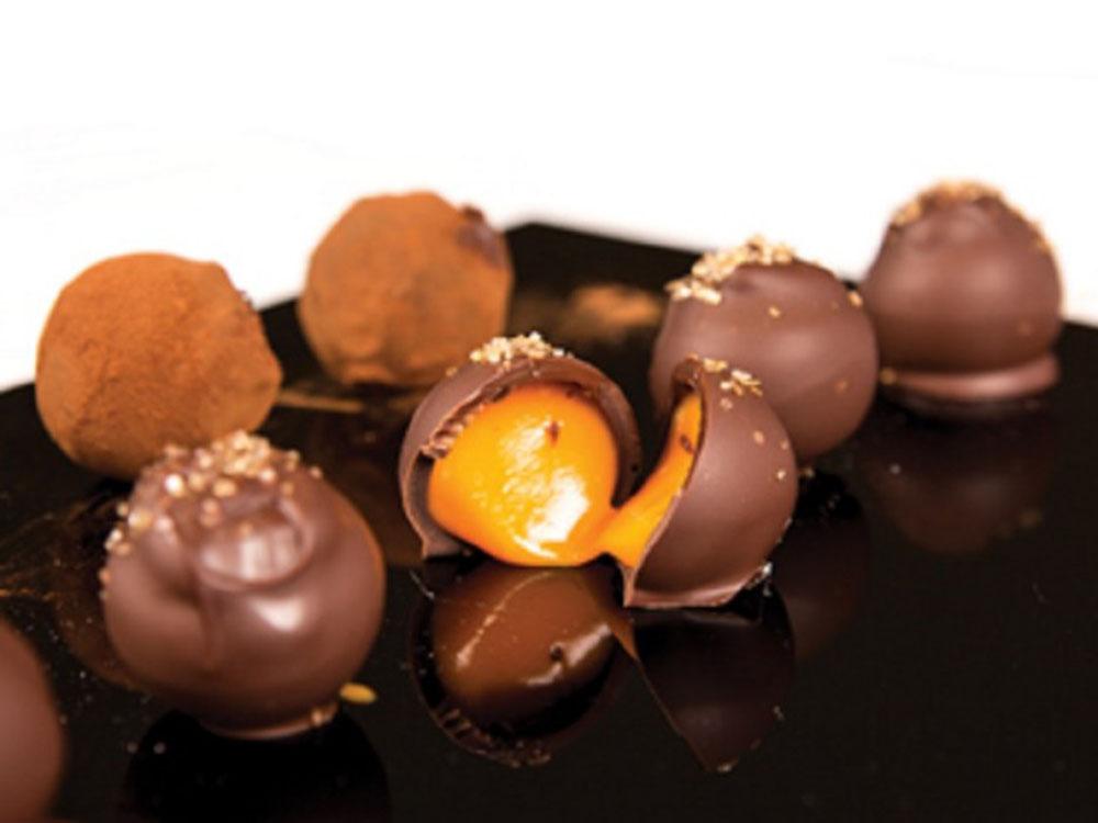 Декоративное украшение из натурального шоколада Трюфельные капсулы