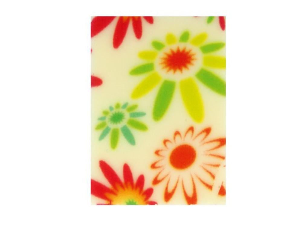 Декоративное украшение из шоколада 35x25 прямоугольник 32522 Цветы
