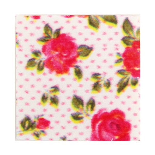 Декоративное украшение из шоколада 35x35 квадрат 34126 Розы
