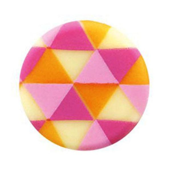 Декоративное украшение из шоколада d30 круг 34763 Цветные треугольники
