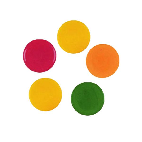 Декоративное украшение из шоколада круг 35119 Цветные круги