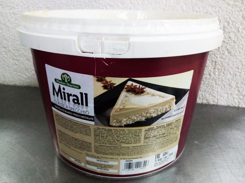 ГлазурьMirall CIOCCOLATO BIANCO ведро 5кг-2
