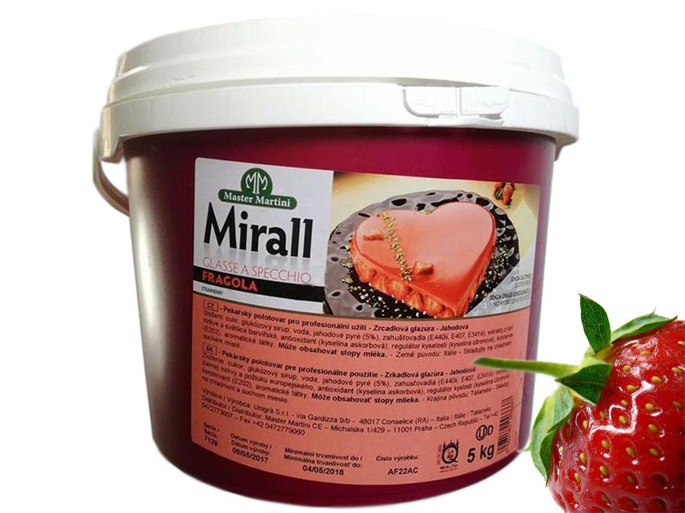 ГлазурьMirall FRAGOLA клубника ведро 5 кг