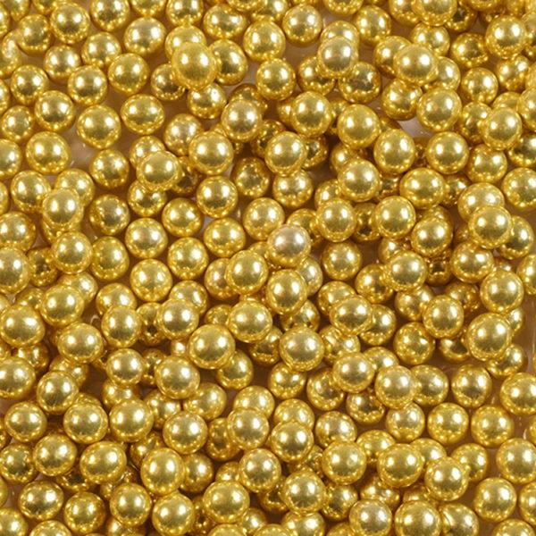 Шарики сахарные золото 5 мм