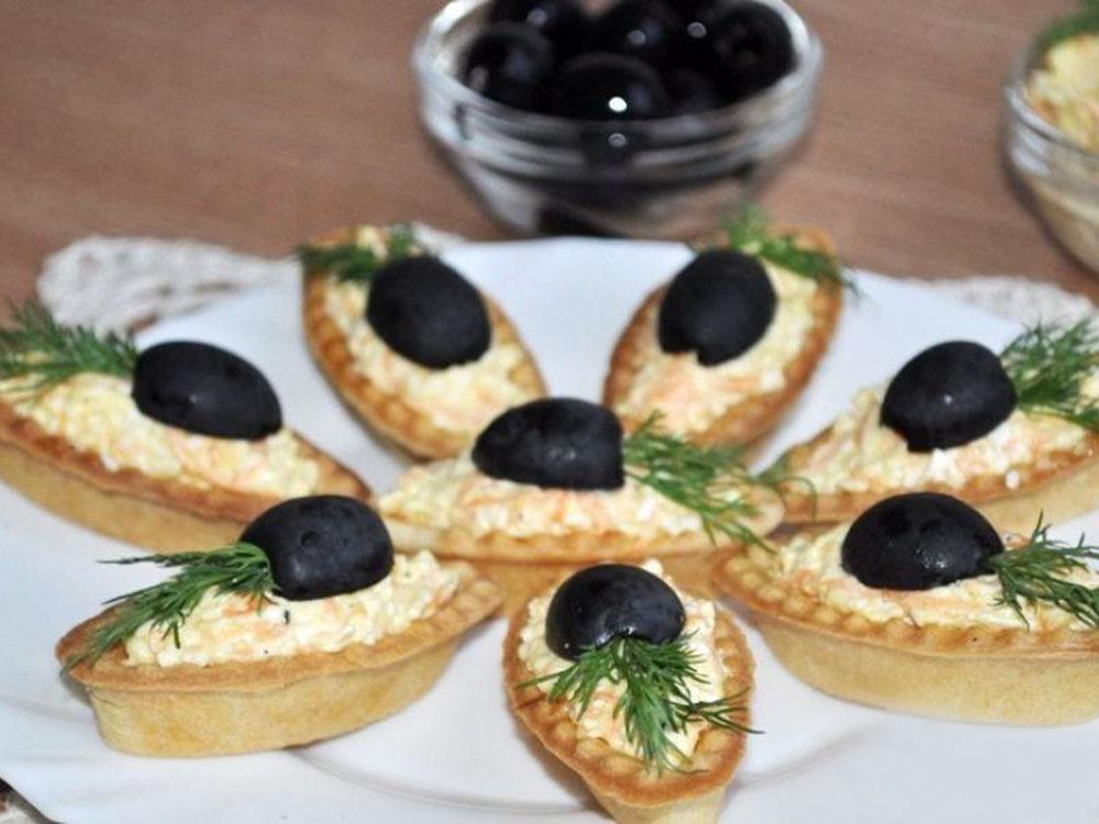 Тарталетки с закусками Лодочка_2