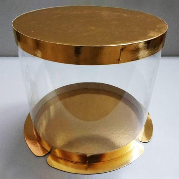 Тубус для торта дно золото