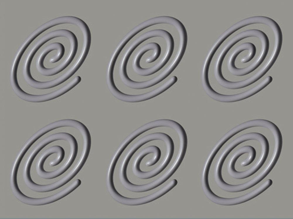Форма силиконовая GG010-SPIRALE-OVALE-stampo