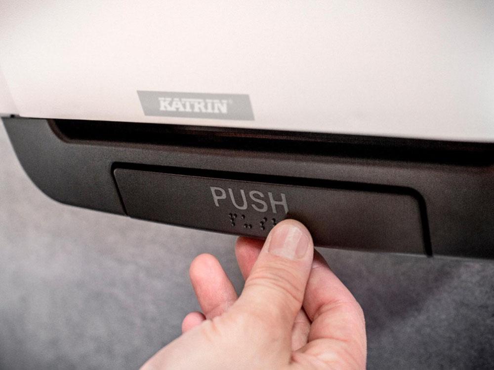 Диспенсер для рулонных полотенец белый 90045 использование