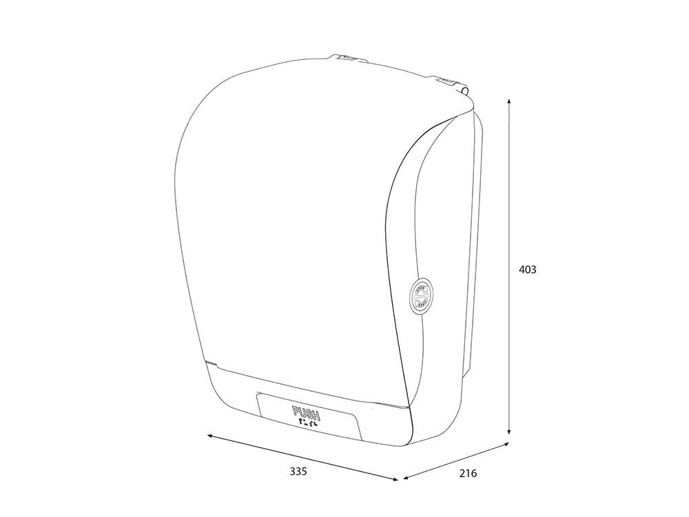 Диспенсер для рулонных полотенец белый 90045 размеры