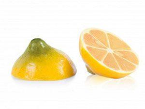 Декоративное украшение из натурального шоколада 77312 Половинки лимона