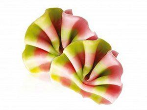 Декоративное украшение из натурального шоколада 78006 Лесная стружка мини розовая зеленая