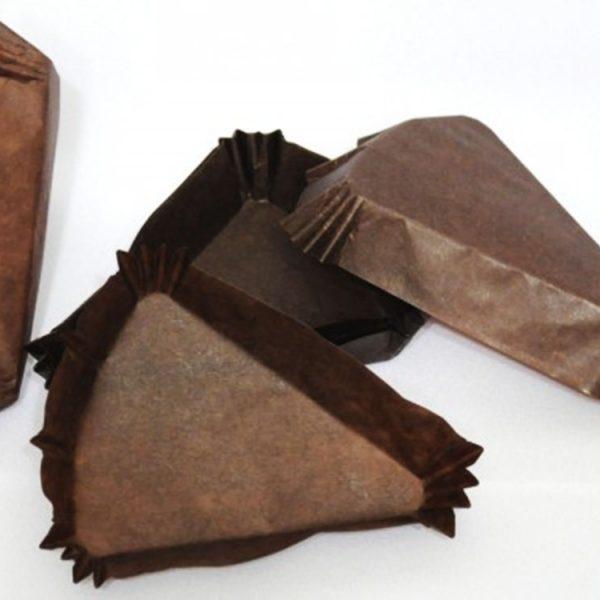 Капсулы бумажные Треугольник коричневые