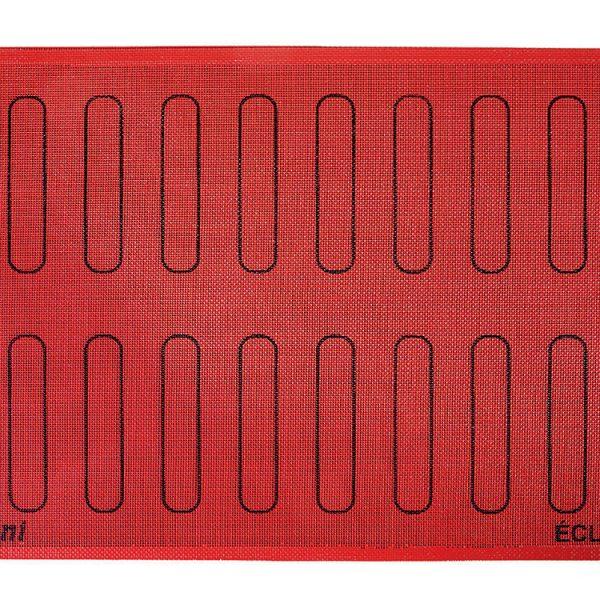 Коврик силиконовый микроперфорированный для эклеров 125×25 ECL20_1