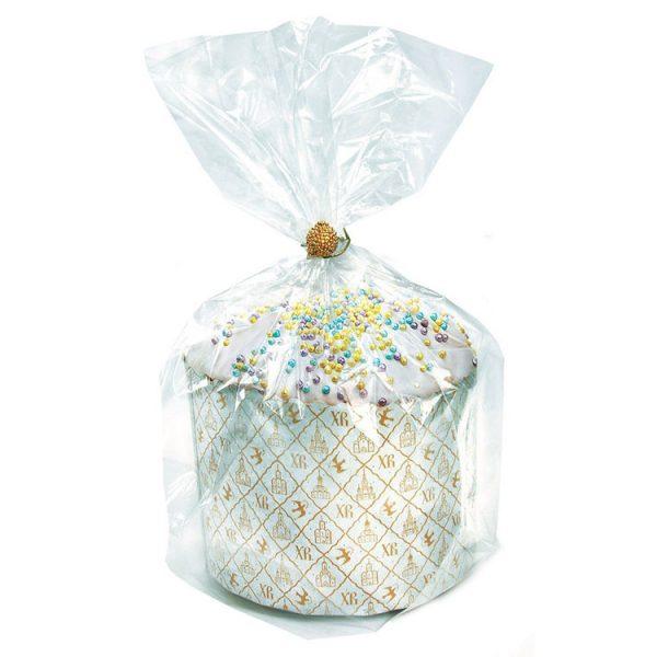 Упаковочный пакет прозрачный без рисунка_Кулич