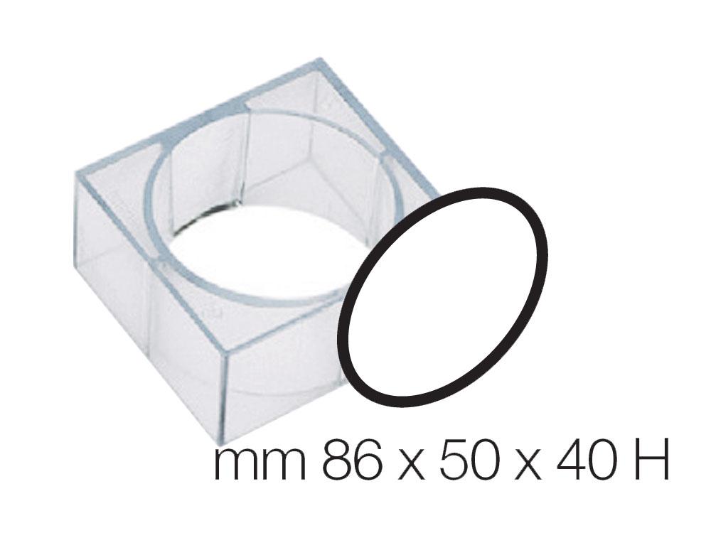 Форма для десертов 86x50 h40 Овал
