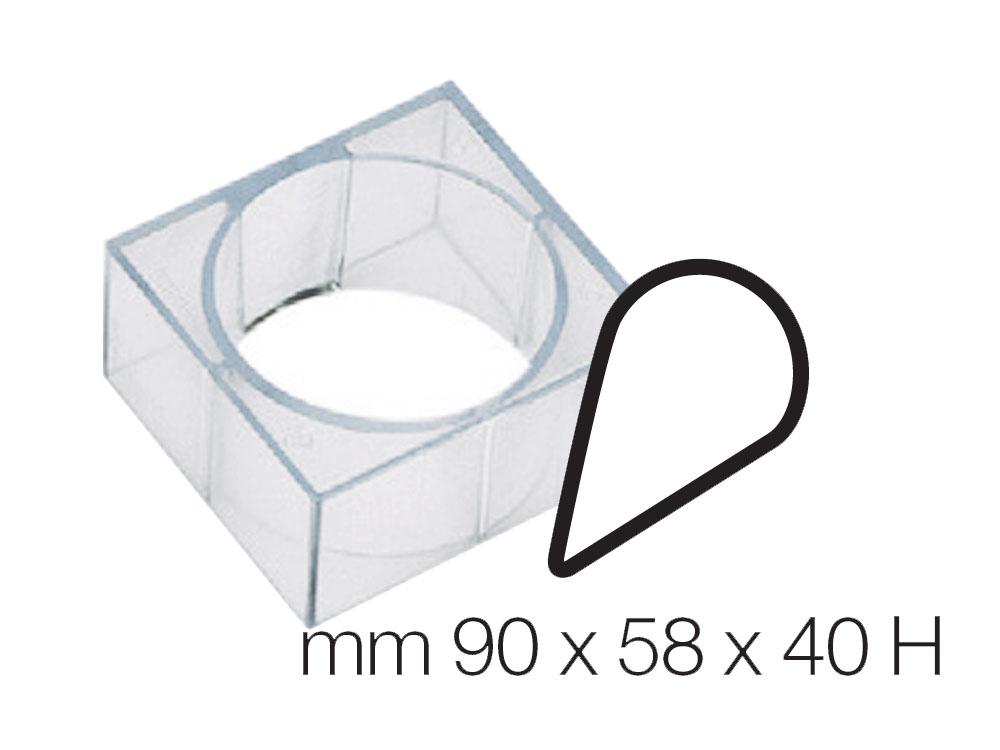 Форма для десертов 90x58 h40 Капля