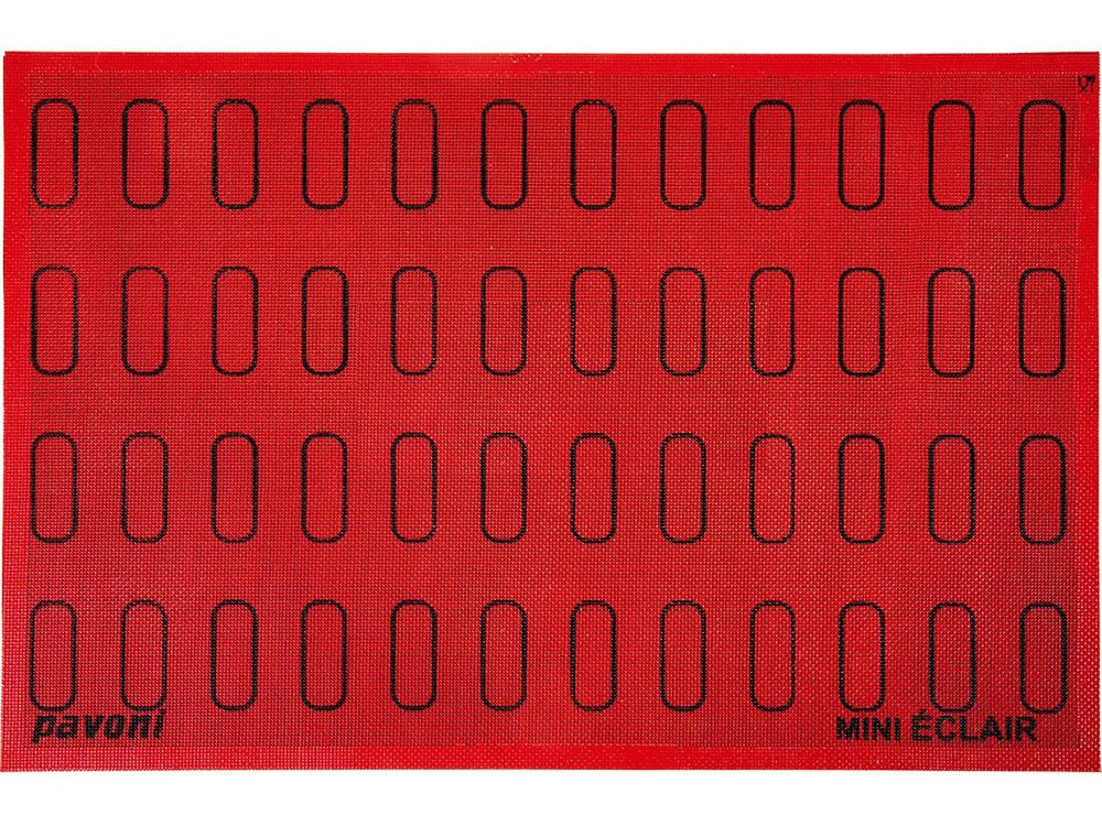 Коврик силиконовый микроперфорированный для мини-эклеров 60×18 ECL48