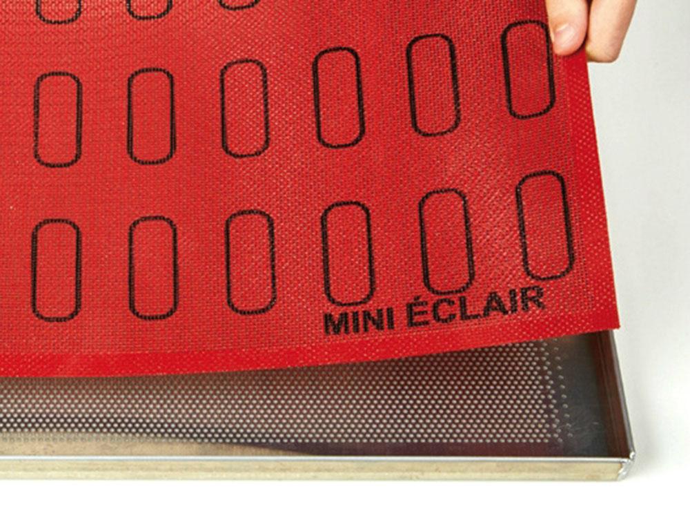 Коврик силиконовый микроперфорированный для мини-эклеров 60×18 ECL48_2