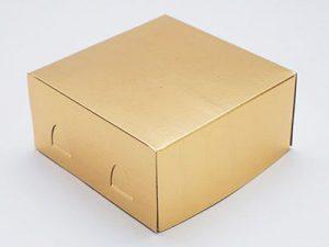 Короб для торта золотой