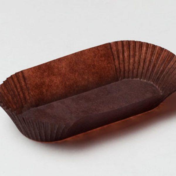 Капсула бумажная Овал коричневая