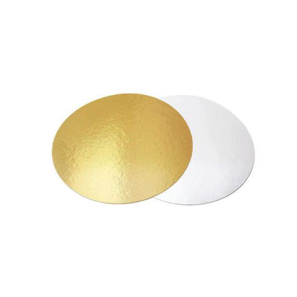 Подложка для тортов круглая 180 золото-жемчуг усиленная