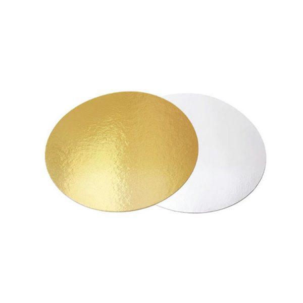 Подложка для тортов круглая 200 золото-жемчуг усиленная