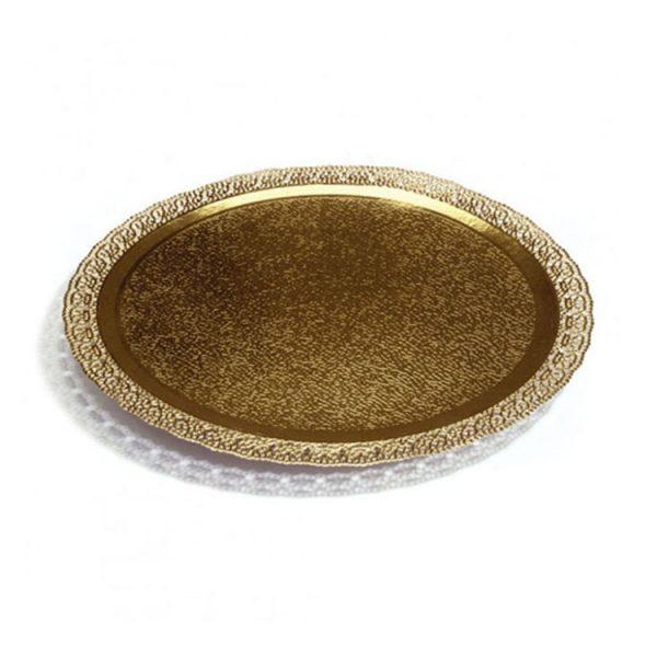 Поднос кондитерский D250 mm золото Leonardo