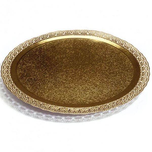 Поднос кондитерский D320 mm золото Leonardo