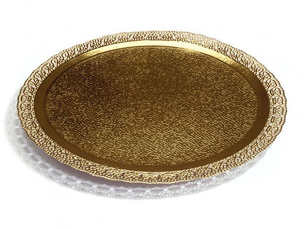 Поднос кондитерский D380 mm золото Leonardo