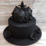 Стильный черный торт на черной подложке_2