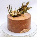 Стильный торт на белой подложке_1