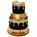 Стильный торт на золотой подложке_2