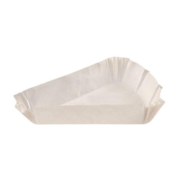 Капсула бумажная треугольная 102x102x78 h25 белая