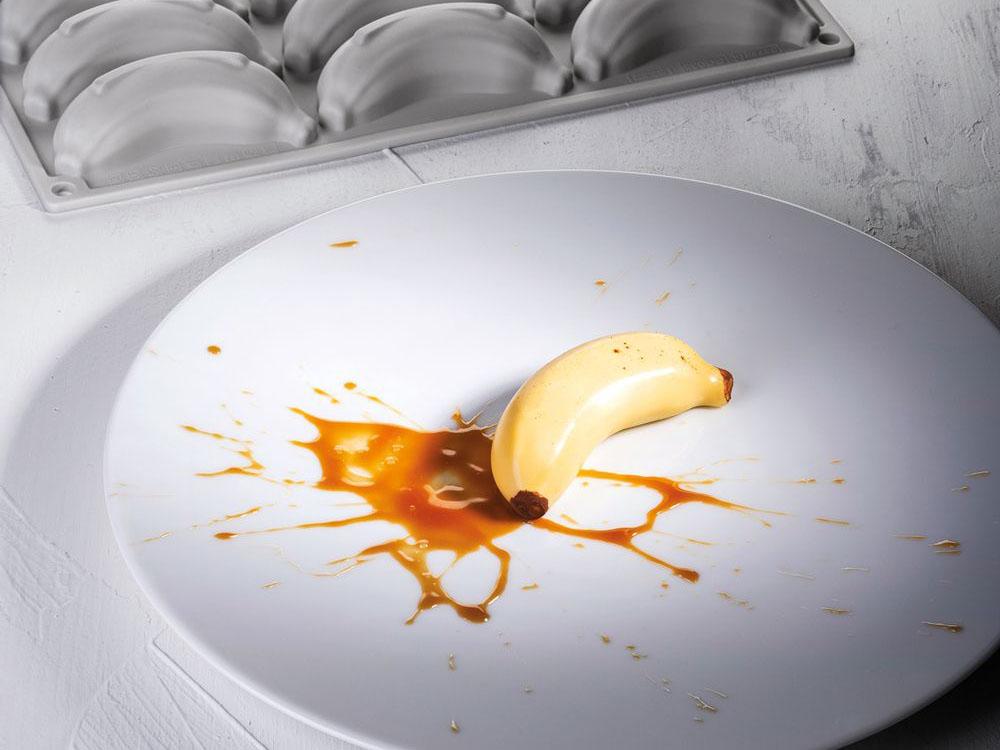 Форма силиконовая для десертов 90x40.5 h25 GG035 BABY BANANA_1